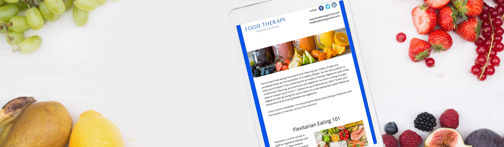 Customized Nutrition Newsletters Health Wellness Fitness