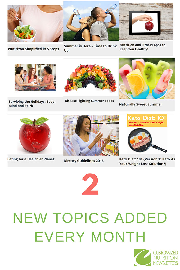 Subscription Plans Customized Nutrition Newsletters
