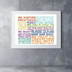 We Inspire Greatness 11×17 print