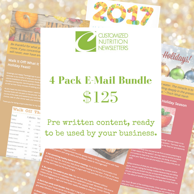 Holiday Bundle - Health and Nutrition Articles
