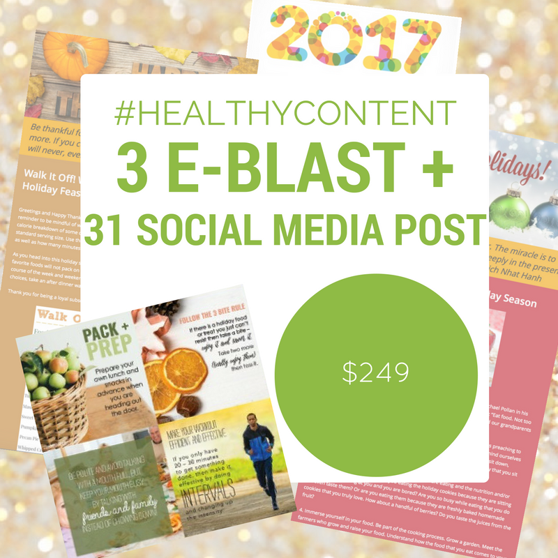 Email Newsletters & Social Media Content for Health Professionals