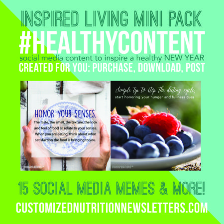 Pre-designed health and nutrition content
