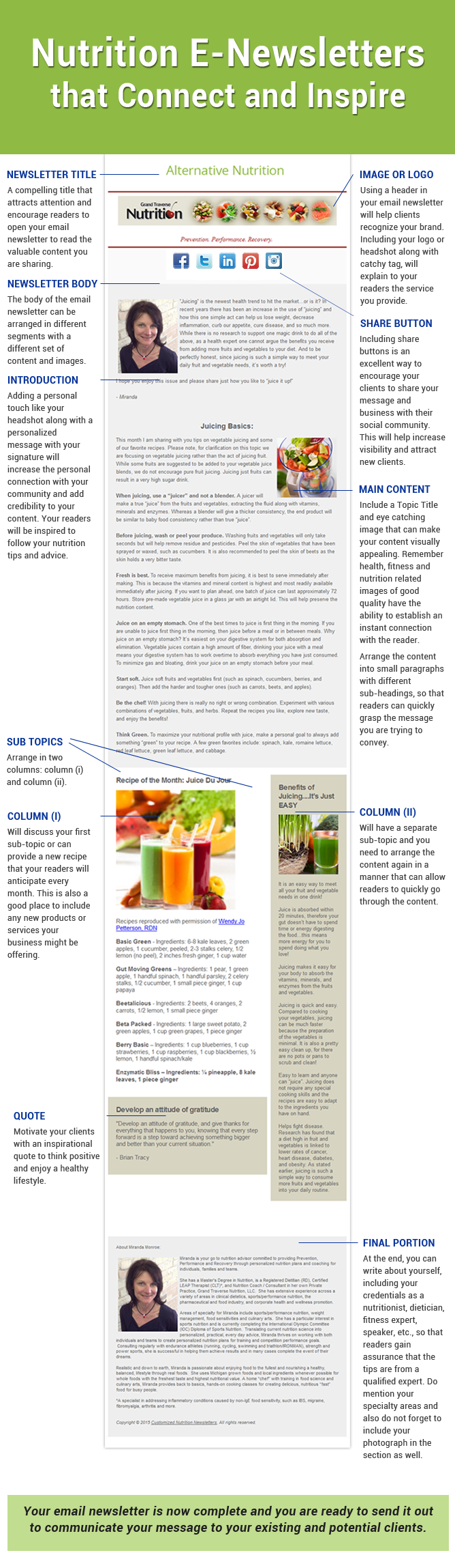 Nutrition Email Newsletters