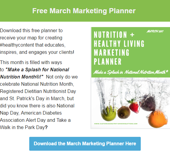 Download Your FREE March Health and Wellness Planner